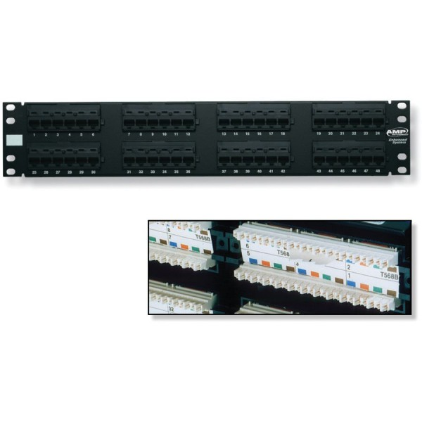 AMP Netconnect Cat5e Rear Punch Patch Panels logo