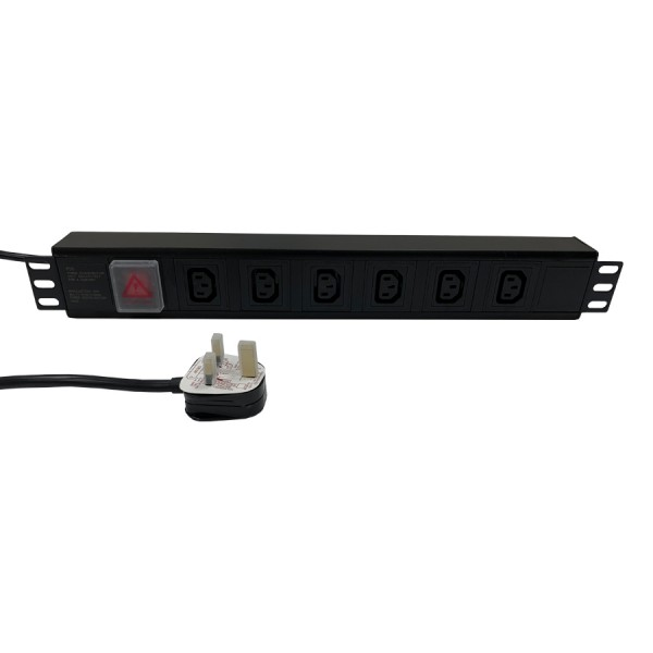 Industrial rack mount power strip