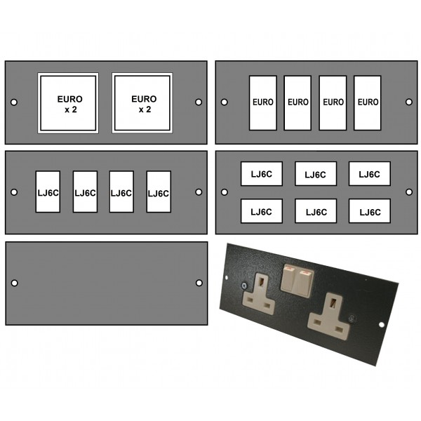 Ultima 3 Way Floor Box (Compact) Accessory Plates logo
