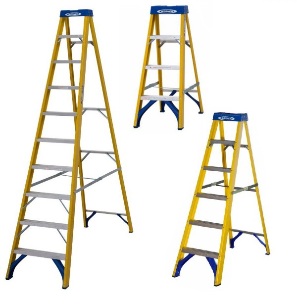 Abru 716 Series Fibreglass Step Ladders - Swingback logo
