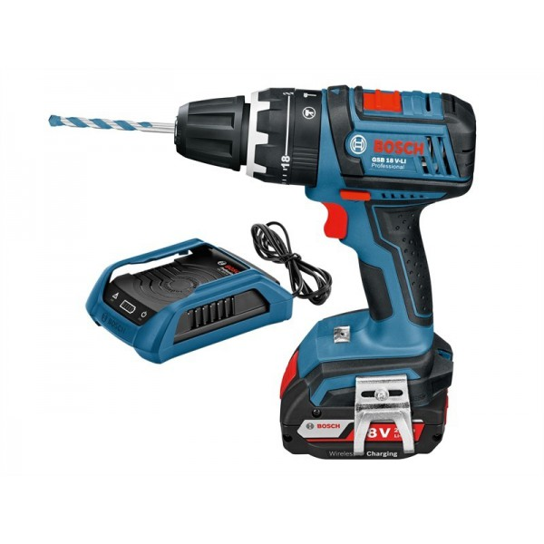 Bosch Professional Cordless Combi Drill GSB 18 V-LI with Wireless Charging logo