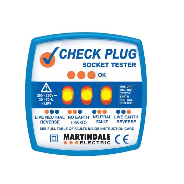 Martindale Check Plug Socket Testers