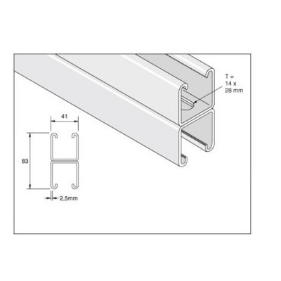 Unistrut Slotted Double Channel Support logo