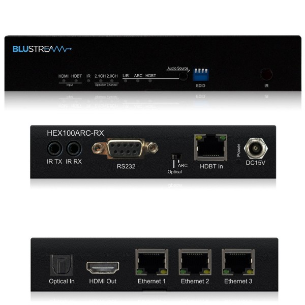 Blustream 4K HDBaseT Receivers - HEX70B-RX logo