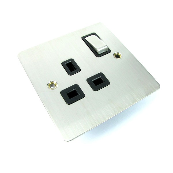 Scolmore Flat Metal Power Sockets logo