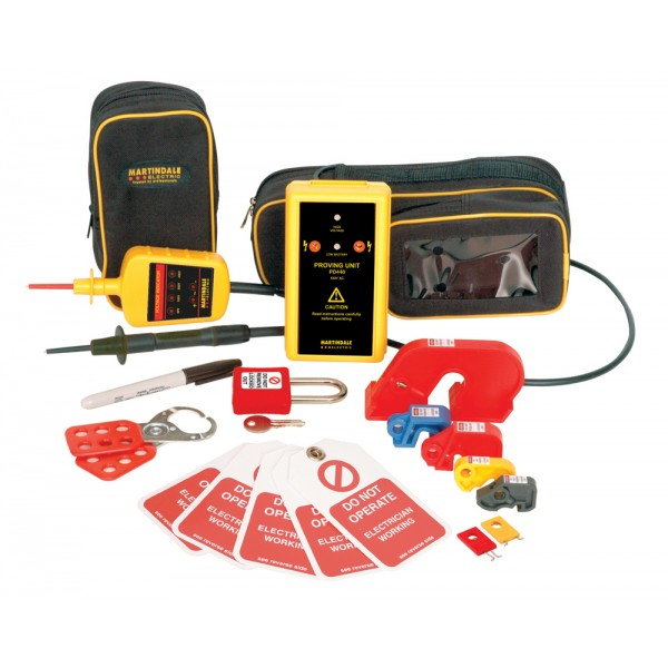 Martindale Electric Lock-out Kit with Voltage Indicator & Proving Device logo