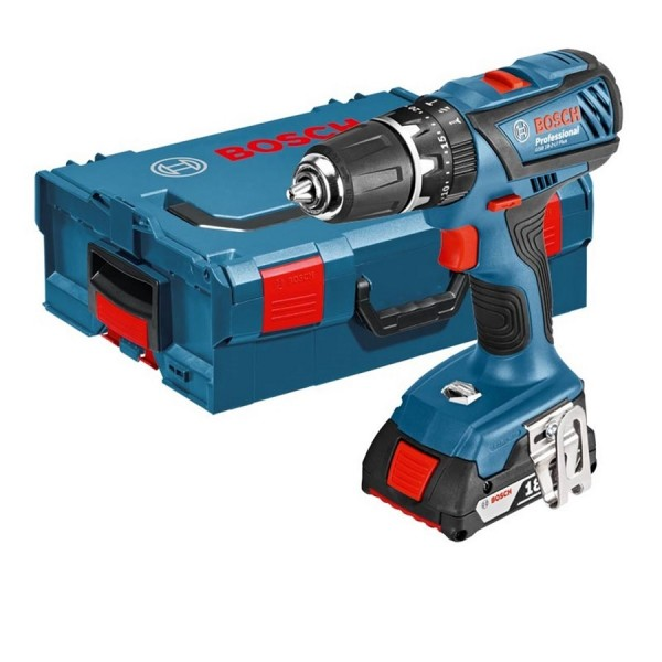 Bosch Professional Cordless Combi Drill GSB 18-2-LI with 2x 2Ah Batteries & Wireless Charging System logo