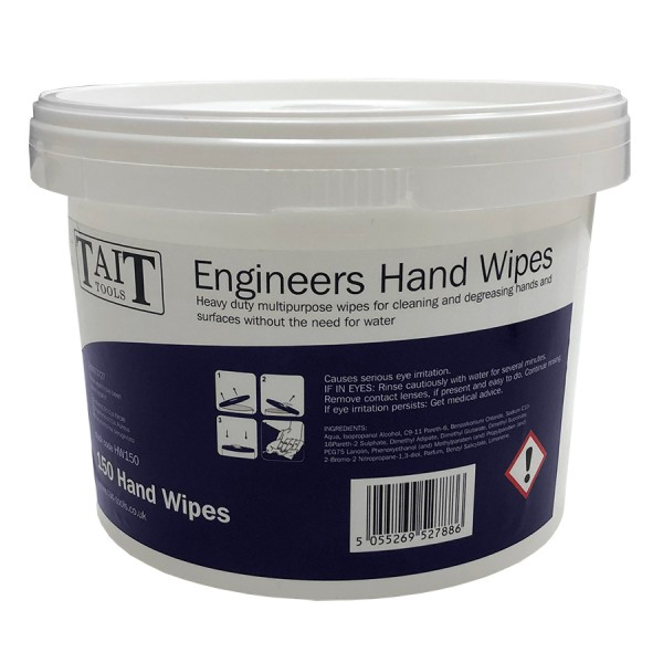 Tait Tools Engineers Hand Wipes logo
