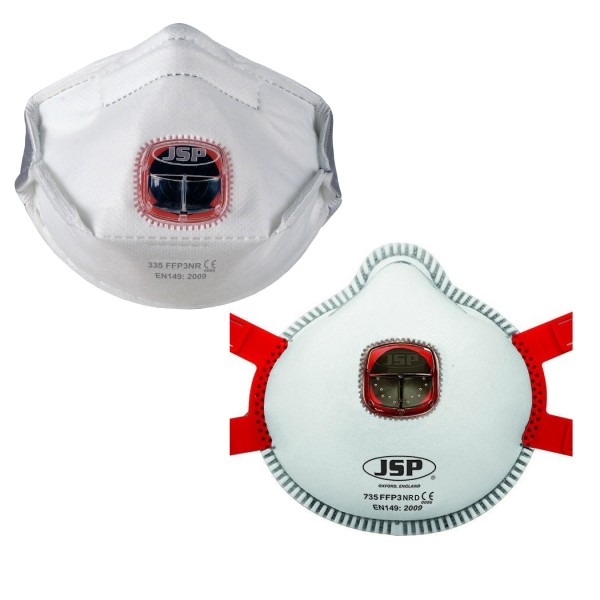 JSP Typhoon FFP3V Valved Dust Masks logo