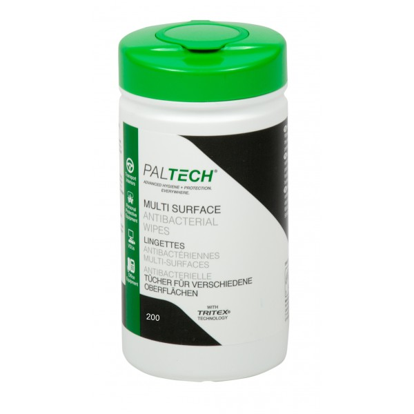 PALTECH Anti-Bacterial Skin & Surface Wipes
