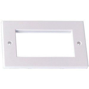 Faceplate Flat Double Gang 4x Euro White (H)86mm x (W)146mm