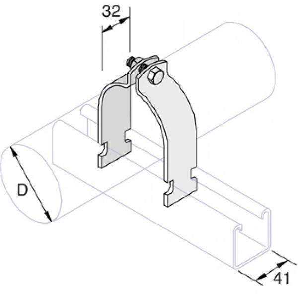 Unistrut Pipe Clamps