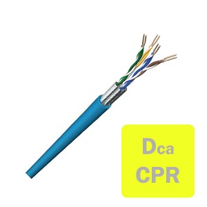 Solid UC400 Cat6 U/FTP LSZH 4 Pair Dca-s2,d2,a1 Blue (L)305Mtr NVP Rating 79% Outer Dia 7.0mm