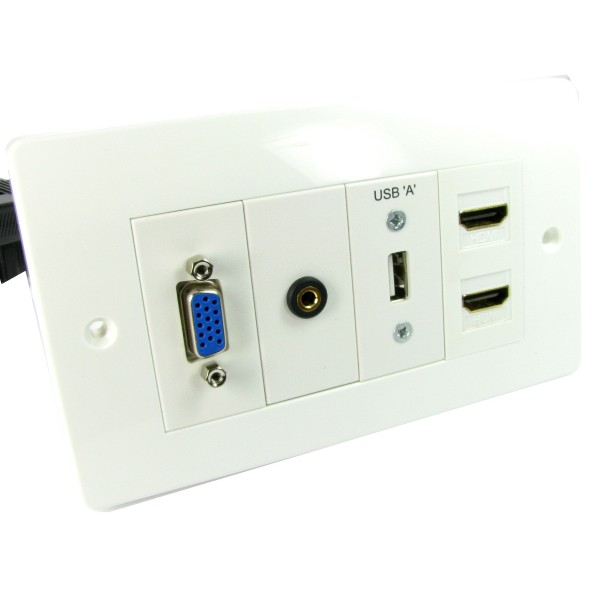 Nexxia AV Loaded Euro Faceplates