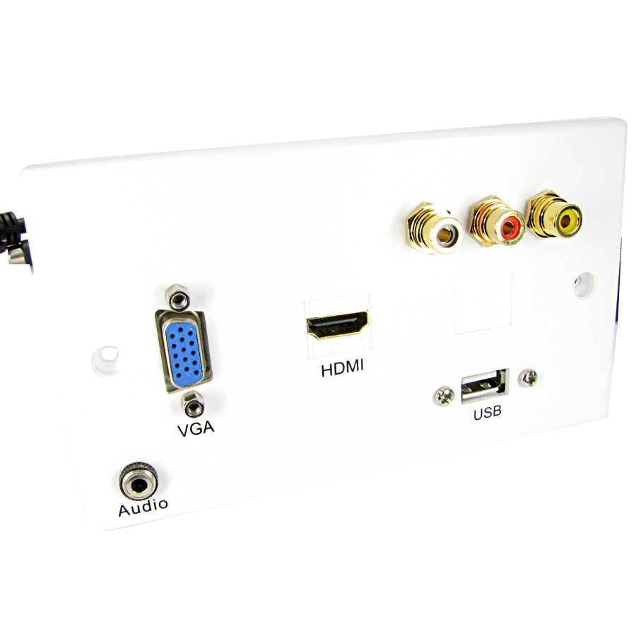 nexxia double gang projector wall plates