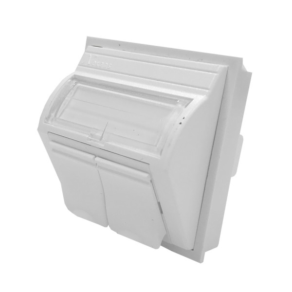 LANmark UK Style Angled 50 x 50 Module 2 Snap-In